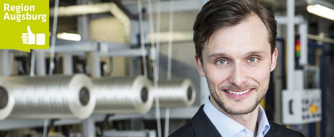 A³ Fachkräftekampagne: Christoph Koch von<br> SGL Group in Augsbrug